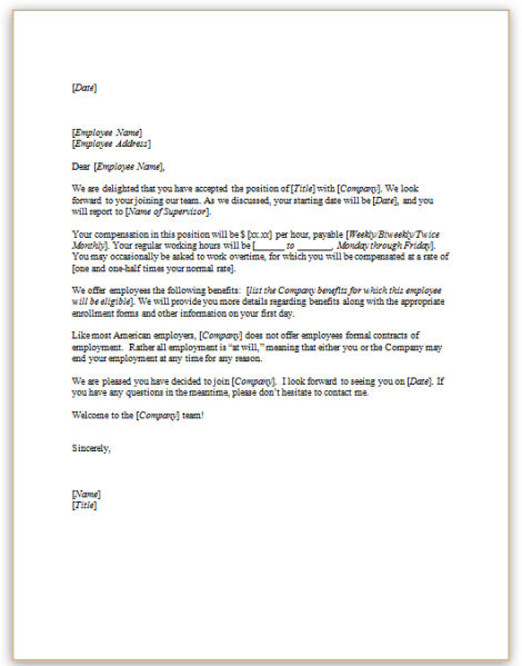 This Sample Letter Is One Example Of A Formal